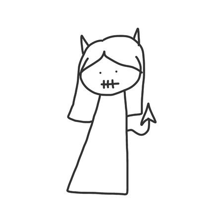 vector sketch halloween cartoon character Vector