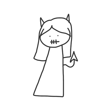 vector sketch halloween cartoon character Stock Vector - 21502090
