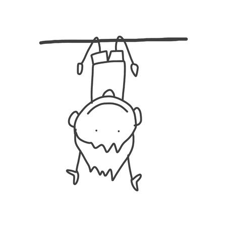 de hand tekening cartoon gelukkige kinderen spelen Stock Illustratie