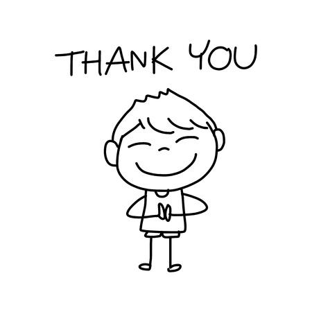 Dibujo a mano de dibujos animados la vida feliz carácter Foto de archivo - 22065544