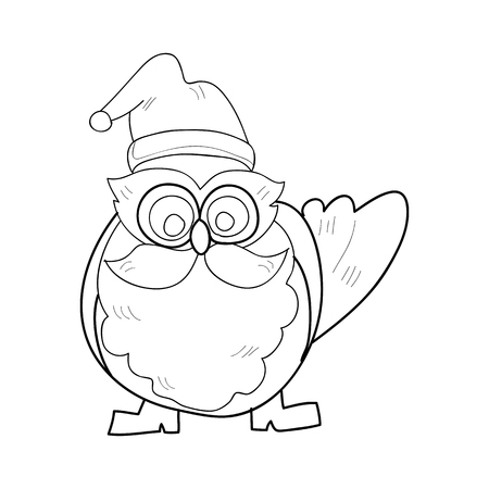 hand drawing cartoon character christmas santa claus Vector
