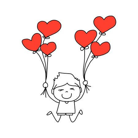 artoon: cartoon hand-drawn love character