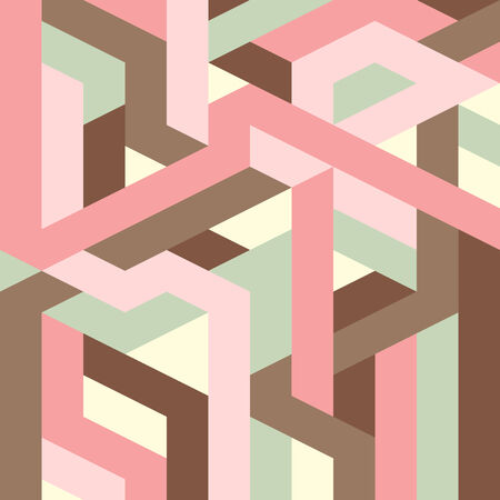 pink and brown background: abstract geometric pattern for design