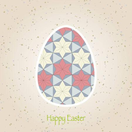 easter eggs retro pattern Vector