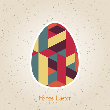 easter eggs retro pattern Vector