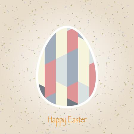 easter eggs retro pattern vector Vector