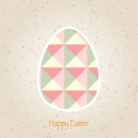 easter eggs retro pattern vector Vector