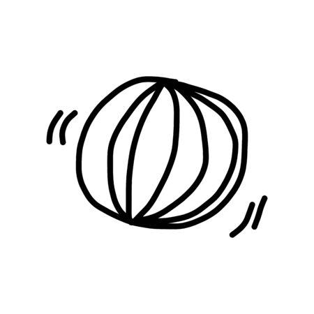 pelota caricatura: bola de la historieta de dibujo a mano