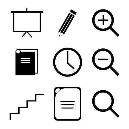 education icon set vector  Vector