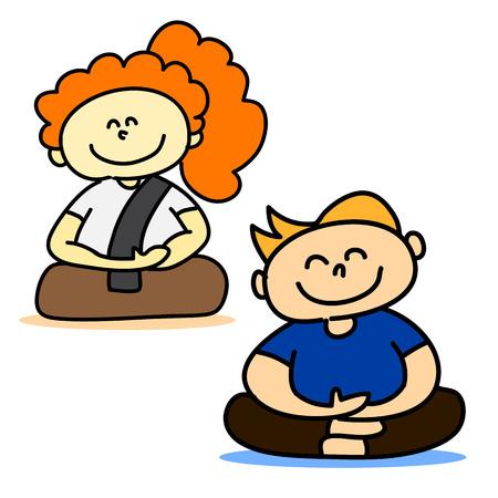hand-drawn cartoon character happy people Vector