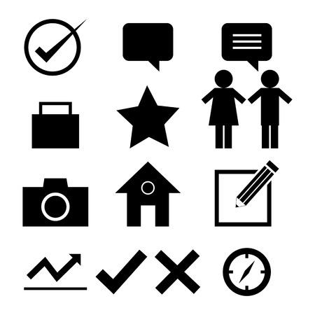 web design icon set vector  Vector