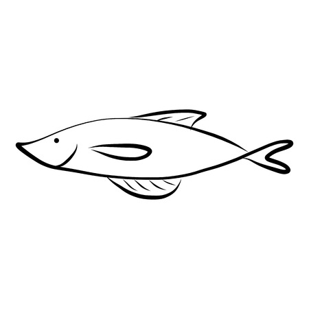 hand drawing icon fish images Vector