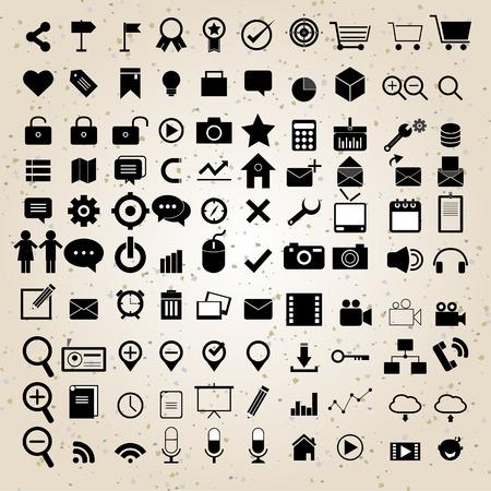 web design icons set vector eps 10 for business, finance and communication Illustration