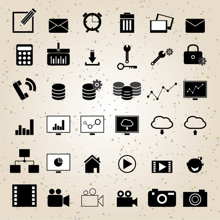 web design icons set vector eps 10 for business, finance and communication Vector