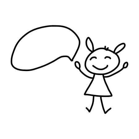 people discuss: hand drawing cartoon character concept happy people discuss business plan