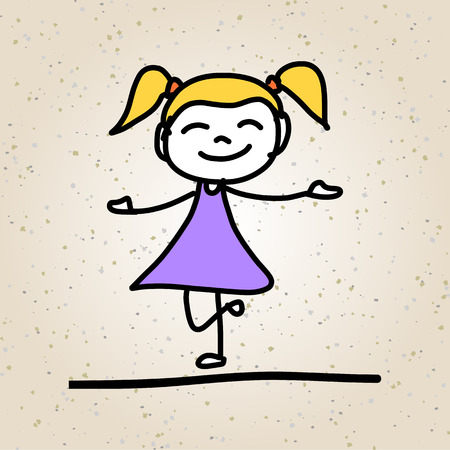 character abstract: hand drawing cartoon character abstract happy kids