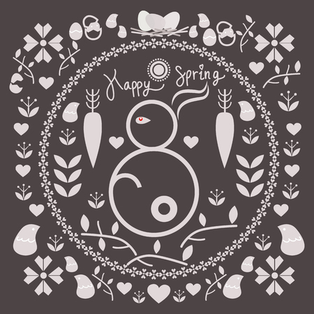 bugs bunny: spring and easter illustration for design eps 10