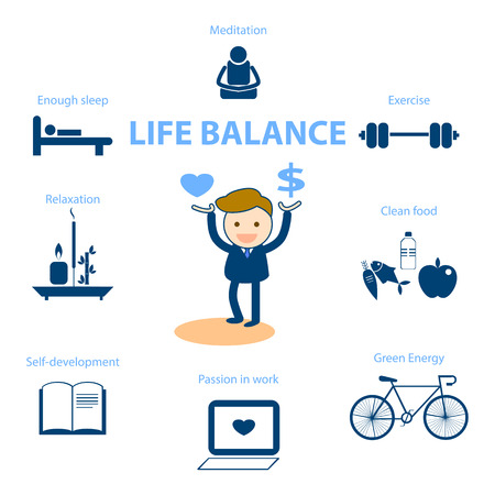 well being concept illustration for life balance Фото со стока - 37361978