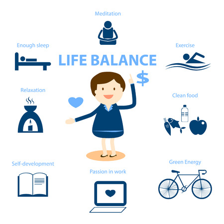 balance: well being concept illustration for life balance