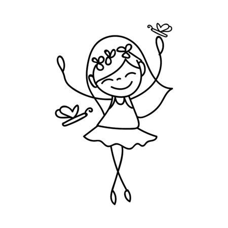 happy summer: hand drawing cartoon character happy kids happy summer