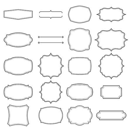 空白のレトロなビンテージ フレーム eps 10 セット