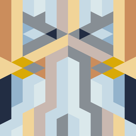 fabric art: abstract retro geometric pattern for design