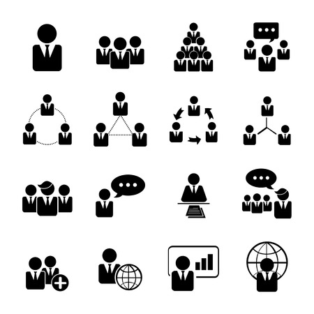 support group: business, management and human resource icons set illustration eps 10