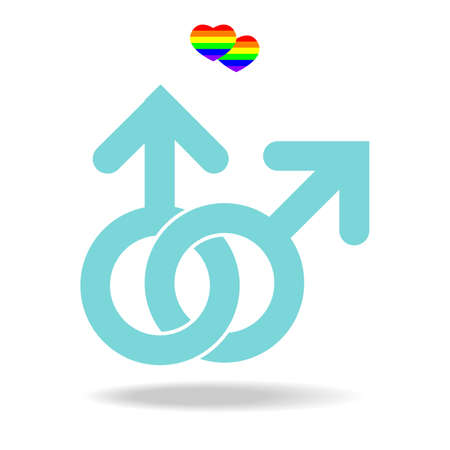 sex: Homohuwelijk iconen te vieren trots vector Stock Illustratie