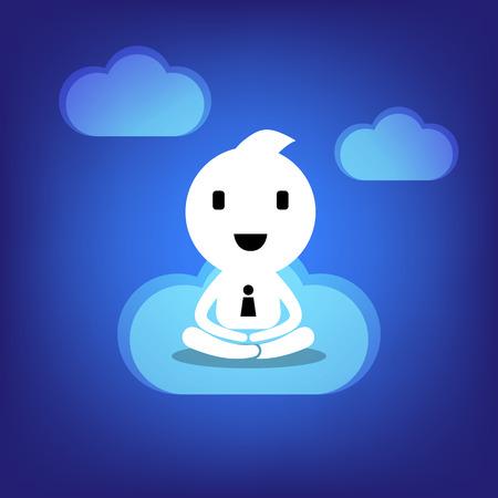 mediation: business concept mediation illustration in blue background vector  Illustration