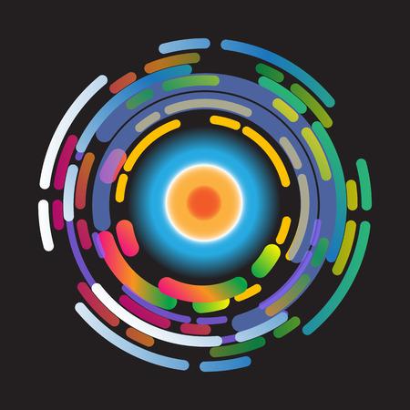 vector wheel: abstract color wheel background design vector