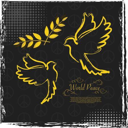 peace day: International Peace Day grunge illustration