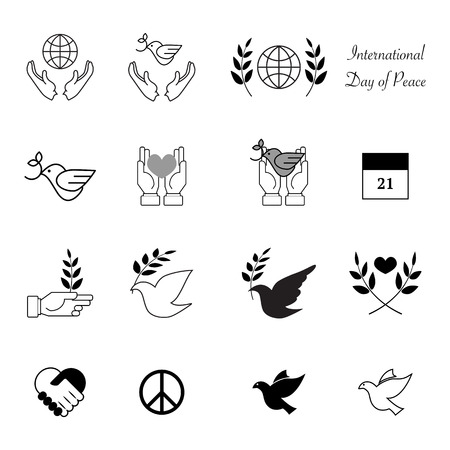 peace: World peace day icons vector design eps 10 Illustration