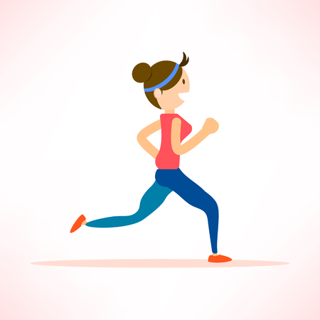 woman running, jogging, marathon, individual sport character