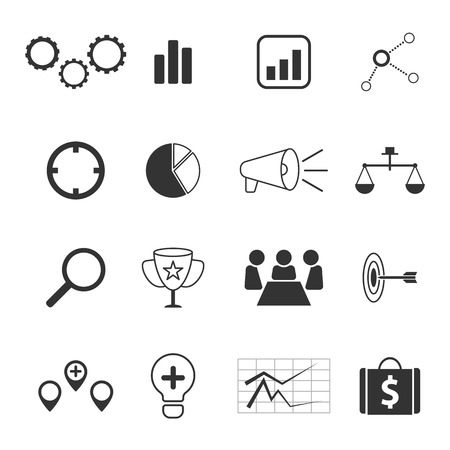 esp: business strategy and marketing icons set vector design esp 10