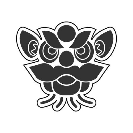 chinese new year dragon: Chinese New Year Dragon icons vector design Illustration