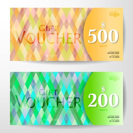 color tone: Premium Gift Voucher Template, pastel color tone