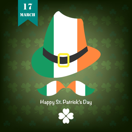 st  patrick's day: St. Patricks Day background. Illustration