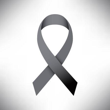 fund world: Black ribbon and Peace illustration, Vector eps10 Illustration