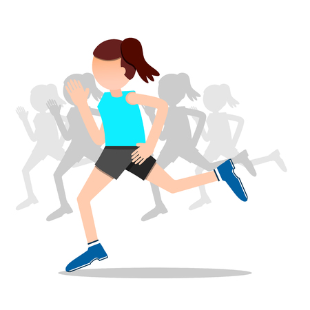 good cheer: health and wellness, exercise, running, woman healthy life style infographics illustration