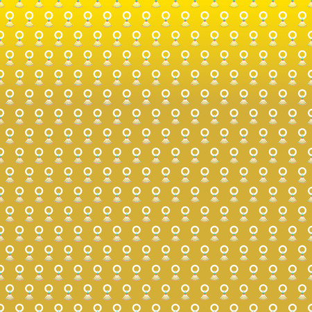 songkran: Happy Songkran Day Thai New Year background with jasmine garland seamless pattern on gold background illustration