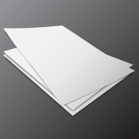 다른 크기 및 각도, 그룹화, 편집 하 고 이동하기 쉬운 빈 종이의 벡터입니다. 디자인 일러스트레이션