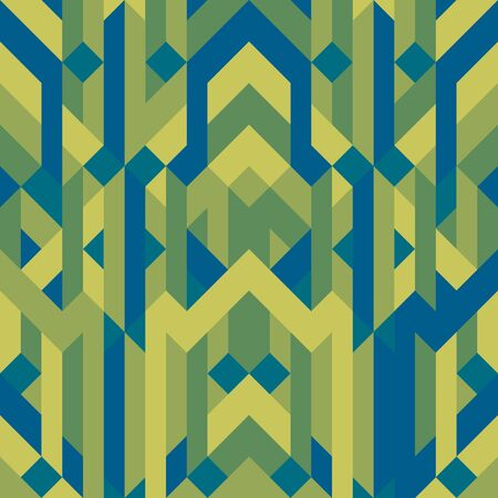textiles: Abstract geometric graphic pattern green color tone background vector illustration for green, eco, organic concept design idea Illustration