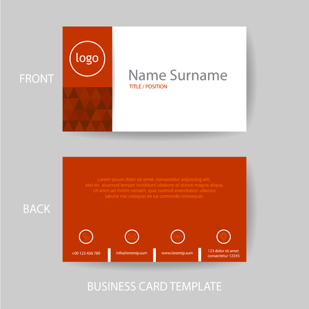 Vector modern and clean red business card name card design template vector vector modern and clean red business card name card design template fbccfo Choice Image