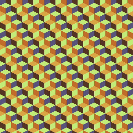 Abstract retro geometric pattern yellow brown earth tone color. Vector illustration background eps 10