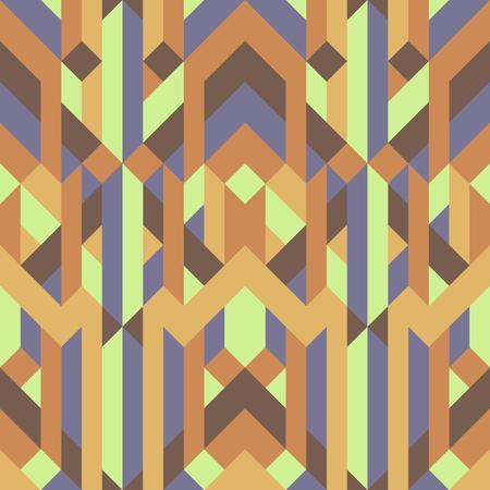 抽象的なレトロな幾何学模様の黄色茶色のアーストーンのカラー。
