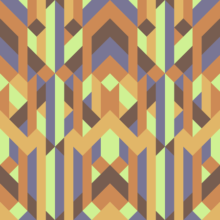 abstract retro geometric pattern yellow brown earth tone color.