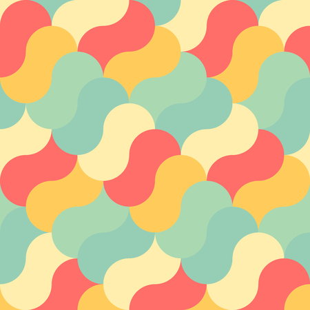 Abstract pastel color tone curve geometric patterns background graphic vector illustration