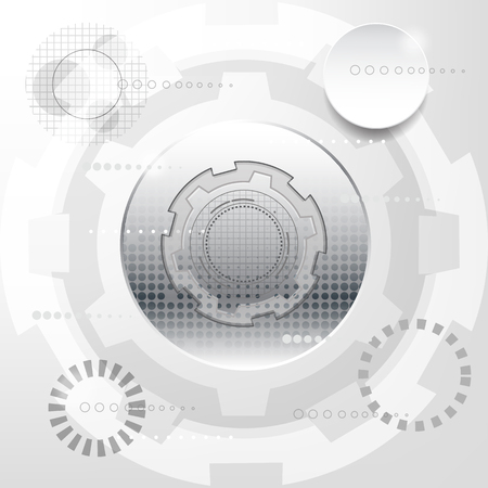 White and silver abstract technology sci fi concept design futuristic hi-tech computer network info graphic vector background for business