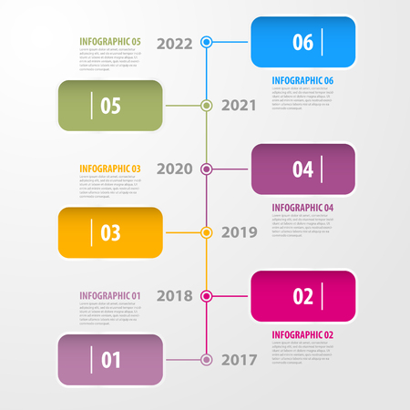 비즈니스 infographics, 전략, 타임 라인, 디자인 서식 파일 그림.
