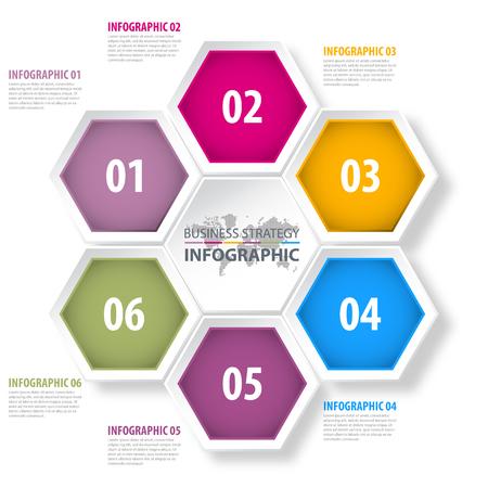 factor: Business Infographics, strategy, timeline, design template illustration